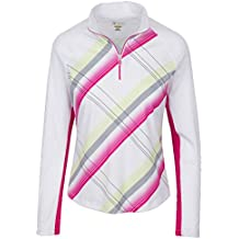 Modern Collection Greg Norman Solar XP 1/4 Zip Graphic Plaid Print Golf  Pullover 2017 Womens Bright Peony Small - Best reviews of taylormade golf  clubs