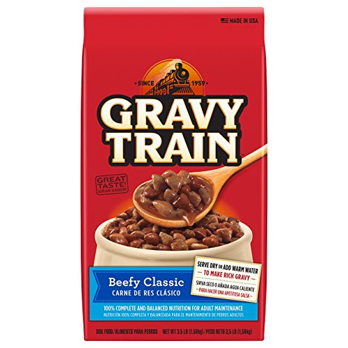 Gravy Train Beefy Classic Dry Dog Food, 3.5 lb (Pack of (Gravy Train Beef Flavor)