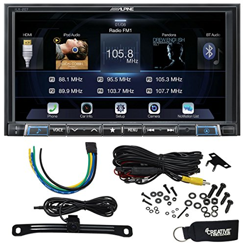 Alpine iLX-207 7-Inch Mech-less, Apple Car Play & Android Auto Receiver With Rear View Camera & Trigger Module