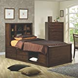 Cheap Coaster Home Furnishings Hillary Twin Bookcase Bed with Underbed Storage Warm Brown