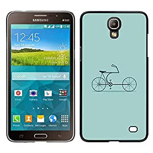 // PHONE CASE GIFT // Duro Estuche protector PC Cáscara Plástico Carcasa Funda Hard Protective Case for Samsung Galaxy Mega 2 / Bike Green Hipster Culture Old /