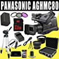 Panasonic AG-HMC80 3MOS AVCCAM HD Shoulder-Mount Camcorder + VBG260 Battery/Charger + Filter Kit + 32GB SDHC + Wide Angle/Telephoto Lenses + Pro Hard Case HDMI DavisMAX Pro MASSIVE Kit Bundle by Panasonic