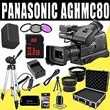 Panasonic AG-HMC80 3MOS AVCCAM HD Shoulder-Mount Camcorder + VBG260 Battery/Charger + Filter Kit + 32GB SDHC + Wide Angle/Telephoto Lenses + Pro Hard Case HDMI DavisMAX Pro MASSIVE Kit Bundle