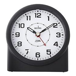 Acctim 14283 Central Smartlite® Sweeper Alarm Clock, Black