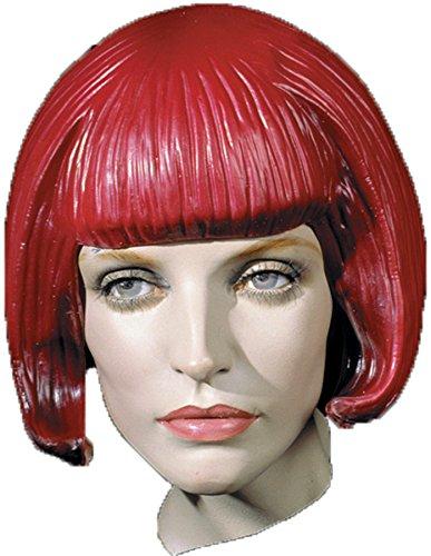 UHC Beebop Rubber Bob Cut Bangs Latex Wig Halloween Costume Accessory