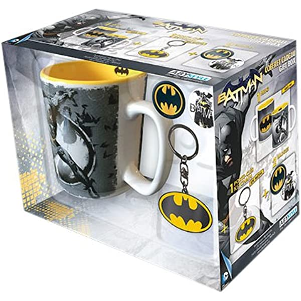 ABYstyle - DC COMICS - Caja de regalo - taza + llavero + Batman pins: Amazon.es: Hogar