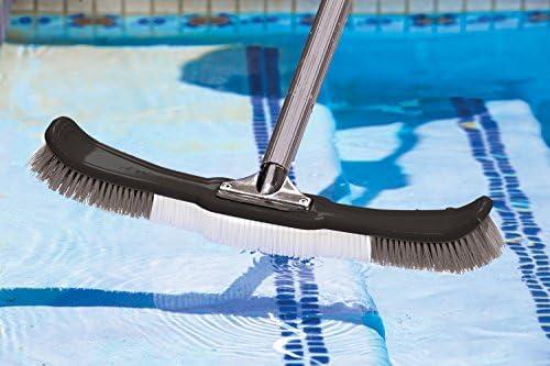 Poolmaster Premier Bürste mit Aluminiumgriff, biegsam, 46 cm