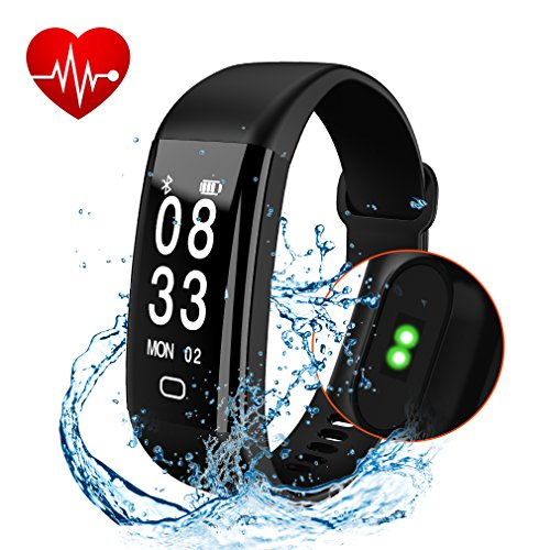 Fitness Tracker, Cafar Fitness Watch, Waterproof Activity Tracker With Heart Rate Monitor, Sleep Monitor, Waterproof Smart Bracelet Pedometer Wristband for Android and IOS