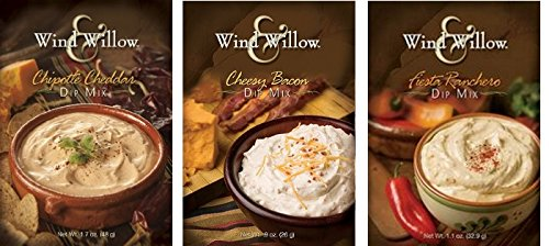 Wind & Willow Dip Mix Variety Pack - Cheesy Bacon, Chipotle Cheddar, and Fiesta Ranchero (Gourmet Dip)