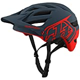 Troy Lee Designs A1 Helmet Drone Drone Gray/Red, XL/XXL For Sale
