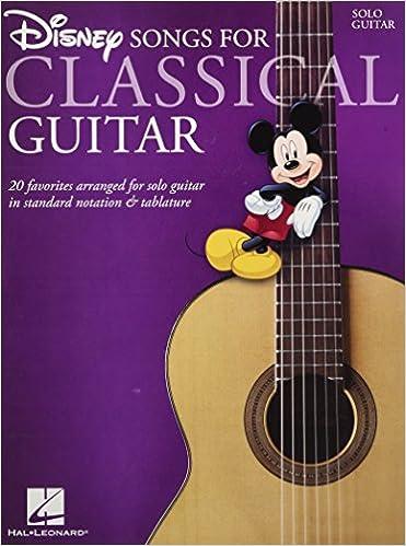 Disney Songs - Classical Guitar Standard Notation & Tab: Amazon.es ...
