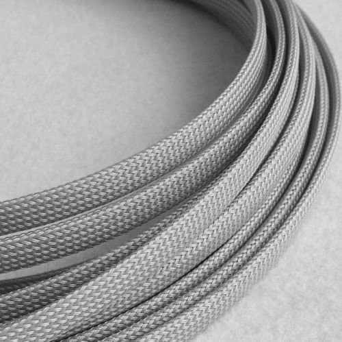 hilltop products ltd expandable braided sleeving pg 10mm - covering  7mm-15mm - grey 10 mtr pack: amazon.co.uk: electronics  amazon uk