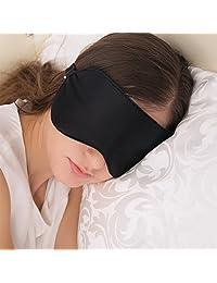 JEFlex Antifaz para Dormir, Seda Natural Máscara para los Ojos con Correa Ajustable