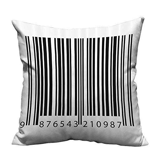 YouXianHome Pillowcase with Zipper Barcode Symbol Background Codes Data Software Linear Dimensial Artwork Ultra Soft & Hypoallergenic (Double-Sided Printing) 35x35 -