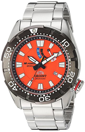 Orient Men's 'M-Force Bravo' Japanese Automatic Stainless Steel Diving Watch, Color:Silver-Toned (Model: SEL0A002M0)