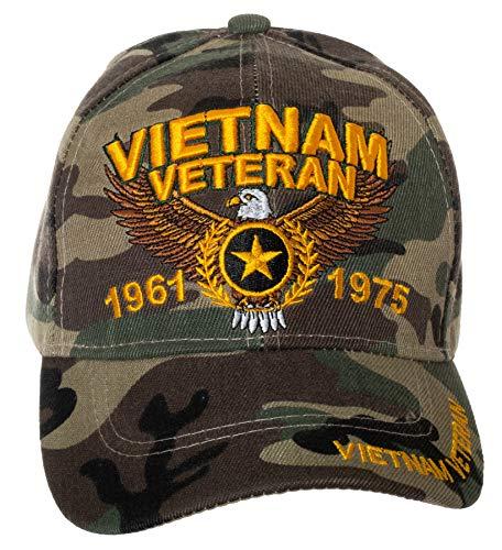 U.S. Military Cap Hat Vietnam Veteran Cap ARMY MARINE NAVY AIR FORCE (Vietnam Veteran Camo)