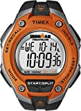 Timex Men's T5K529 Ironman Classic 30 Oversized Black/Orange Resin Strap Watch