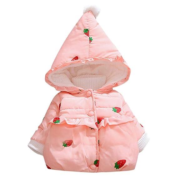 Xmiral Abrigo para Bebés Niñas, Chaqueta Acolchado Bordado ...