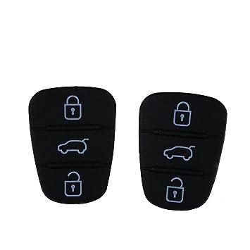 2 almohadillas de goma para llaves de 3 botones, almohadilla de goma de repuesto para mando a distancia de coche: Amazon.es: Coche y moto