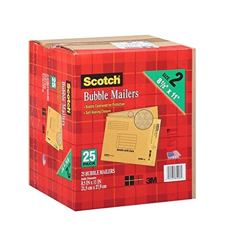 Scotch 3M Bubble Mailers Size 2 (8 1/2