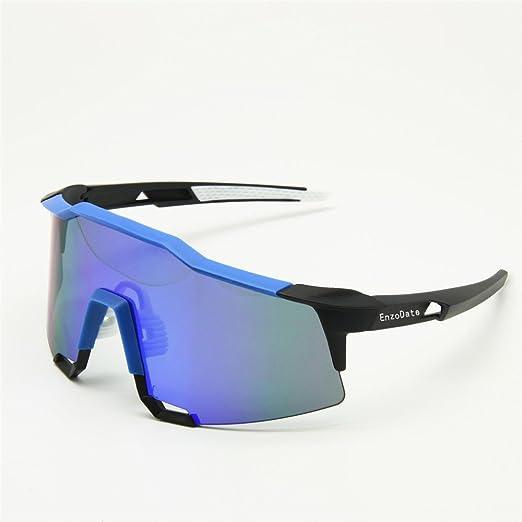 Lunettes de cyclisme 2LS Kit, lunettes de soleil de bicyclette anti-UV, courses de route sports de plein air (vert noir)