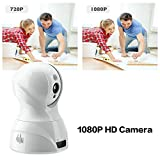 Hi-Tech Full HD 1920 x 1080 Wireless Baby Monitor Wi-Fi Video Camera with Two Way Audio, Motion Detection, Night Vision, Wall Mountable & Ceiling