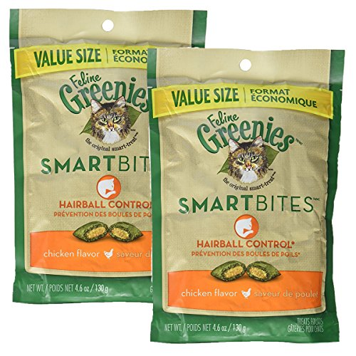 Feline Greenies SMARTBITES Hairball Control Chicken (4.6 oz) 2 Pack