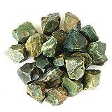 "1"" Rough Bulk Madagascar Materials: 1 LB of Green Jasper, From JIC Gem"