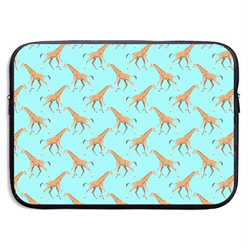 Business Briefcase Laptop Sleeve Giraffe Print Case Cover Handbag For 15 Inch Macbook Pro Air Lenovo Hp Samsung - Bag Giraffe Print Laptop