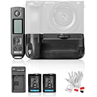 MEIKE MK-A6500 Pro Battery Grip with 2 Batteries for Sony A6500 2.4G Wireless Remote Controller 100M Effective Range Vertical-Shooting Extra Button Screen Lock Function Lock Display Mode