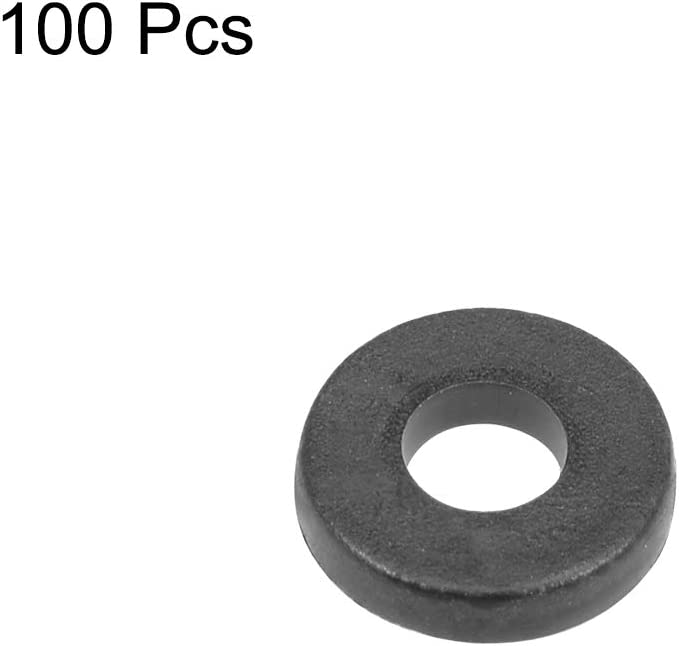 Nylon Flat Washers for M4 Screw Bolt 9mm OD 1mm Thick 100PCS