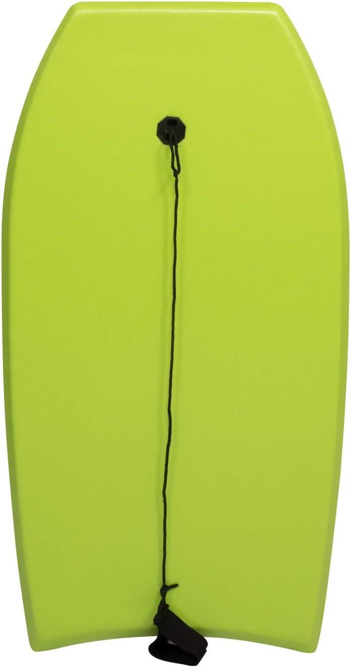 CGBF-Bodyboard Ligero de 41 para Ni/ños y Adultos,Slick Tabla de Surf Bodyboard XPE EPS Core Incluye Correa para El Tobillo