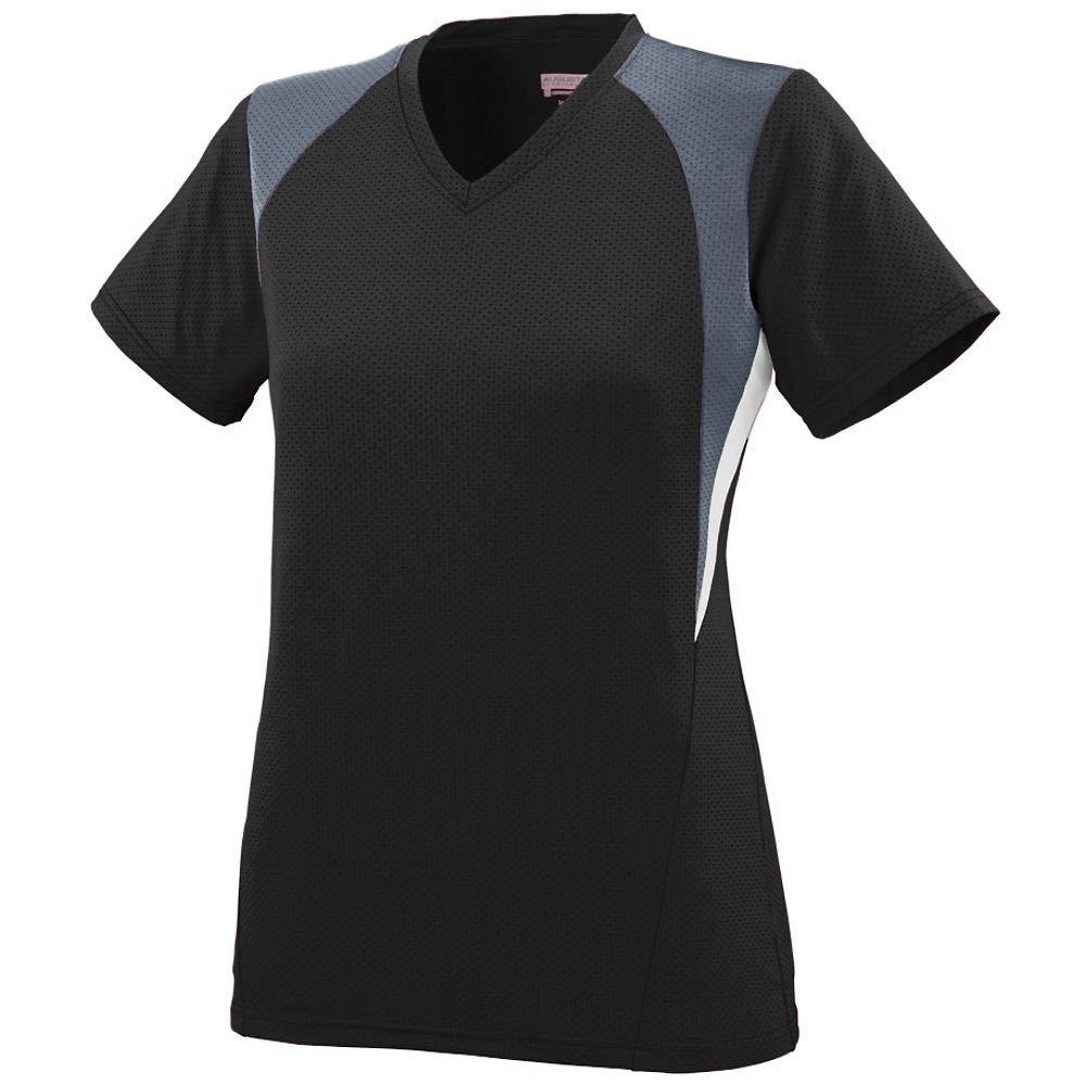 Augusta Sportswear Girls' Mystic Jersey S Black/Graphite/White