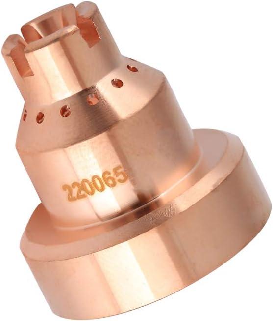 Tapa de copa de protecci/ón de plasma Cobre teluro para consumibles de soplete de corte MAX1650 220065-100 A