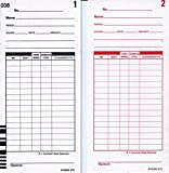 Lathem E7-1000 Model E7 Time Card (Box of 1000), White For use with Lathem 7000E and 7500E Calculating Time Clocks, Double Side Print, Black Ink on Front, Red Ink on Back, Rotary Cut for Accuracy