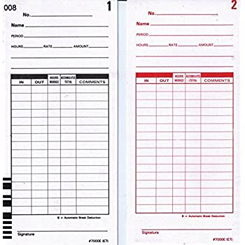 Amazon.com : 200 Lathem E7 series time cards for Lathem 7000E ...