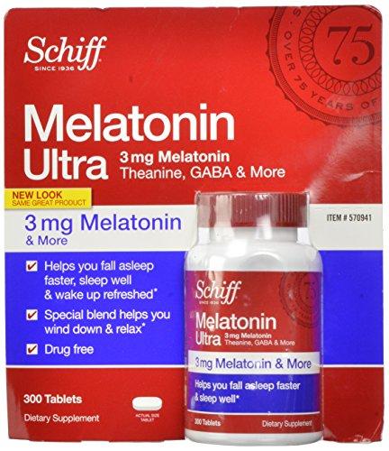 Шифф мелатонина Ultra, 300 таблеток