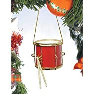 "2"" Red Marching Drum Ornament"