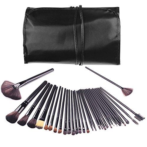 Makeup Brush Set,32 Pieces Professional Makeup Brushes Essential Cosmetics With Case, Face Brush Eye Shadow Brush Eyeliner Brush Foundation Blush Brush Lip Brush (Black) Alluremake (32 Makeup Piece Beauty Set)