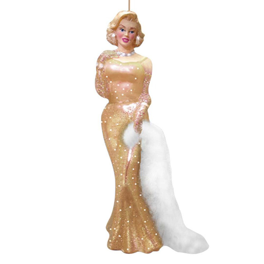 Marilyn monroe ornaments - Amazon Com Kurt Adler Glass Marilyn Monroe Dress Ornament 4 75 Inch Gold Home Kitchen