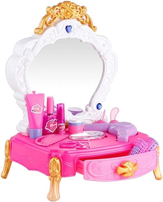 AndyJerzy Tocador de Maquillaje Glamour para niñas Juego De ...