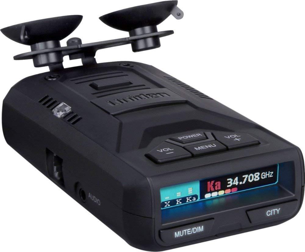 Uniden R1BBY Extreme Long Range Radar Laser Detector - Eagle Eye 360 Degree DSP - Voice Alert - Color OLED Display - Black