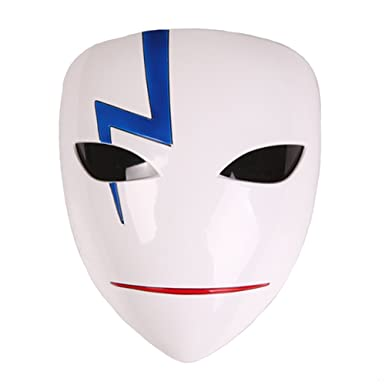 Amazon.com: Rulercosplay Darker Than Black HEI Cosplay Masks Cosplay Costume (Mask A-Smile): Clothing