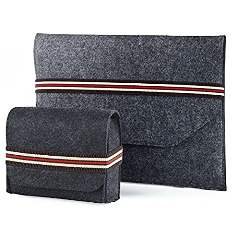 "MacBook Air 13"" / MacBook Pro (Retina) 13.3 inch Felt Sleeve Laptop Netbook Sleeve with (Acc Accessori)"