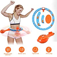 XEWEA Hula Hoop Smart Fitness Weight Loss Ring with LED Colorful Light Adjustable Size Detachable Massage Yoga Ring for Adult and Child Artifact Sports Equipment Abdominal Waist Exercise