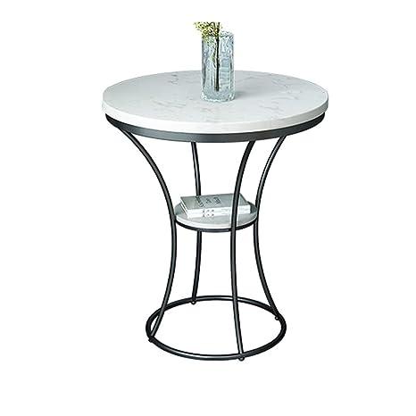 Amazon.com: ZHFHA Mesa de sofá lateral, pequeña mesa redonda ...