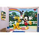 Vinilos decorativos Mural etiqueta de la pared Decal Kids Room 244 cm x 305 Walltastic DISNEY Mickey Mouse 42056