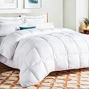 Linenspa All-Season White Down Alternative Quilted Comforter - Corner Duvet Tabs - Hypoallergenic - Plush Microfiber Fill - Machine Washable - Duvet Insert or Stand-Alone Comforter - Twin