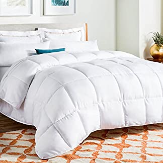 Linenspa-All-Season-Down-Alternative-Quilted-Comforter-Hypoallergenic-Plush-Microfiber-Fill-Machine-Washable-Duvet-Insert-or-Stand-Alone-Comforter-White-Twin-XL