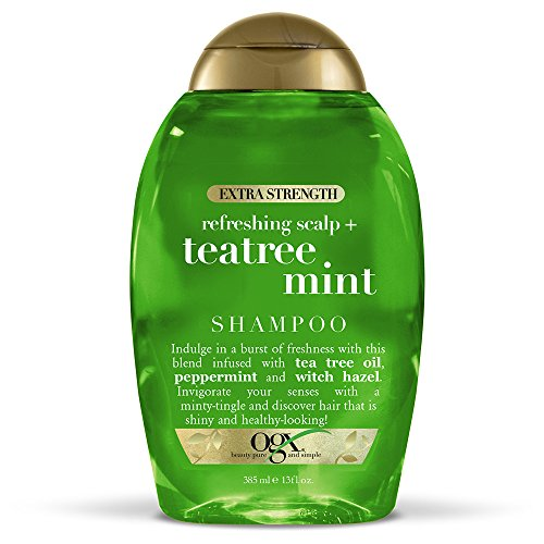 OGX Extra Strength Tea Tree Mint Shampoo, 13 Ounce Bottle